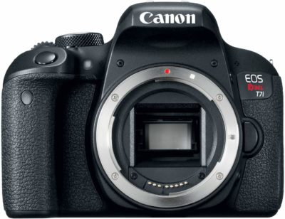 This is an image of a of a EOS REBEL T7i Canon digital camera.