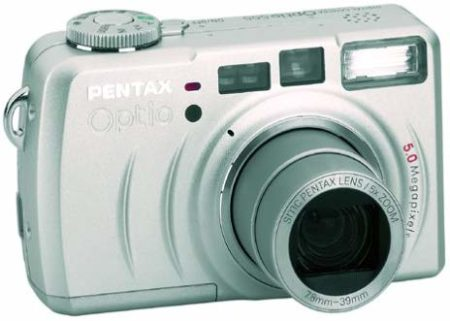 Image of Pentax Optio 555 5MP Digital Camera w/ 5x Optical Zoom