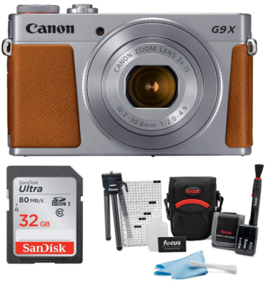 This is an image of Canon powershot pack in gray and brown colors