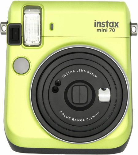 This is an image of Kiwi Green Fujifilm Instax Mini 70 - Instant Film Camera