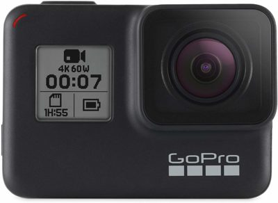 This is an image of a black Hero 7 camera by GoPro.