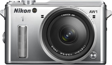 This is an image of Nikon 1 AW1 14.2 MP HD Waterproof, Shockproof Digital Camera System
