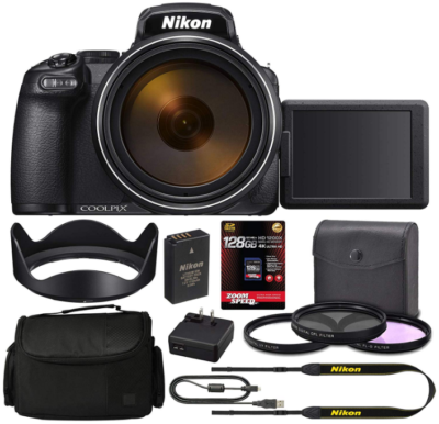 This is an image of Nikon Coolpix Digital camera pack in black color