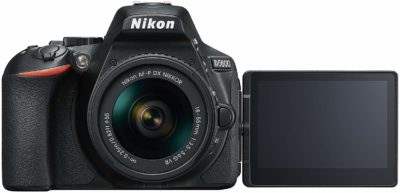 This is an image of a Nikon D5600 digital camera.