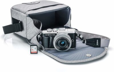 This is an image of a Olympus PEN camera bundle kit.