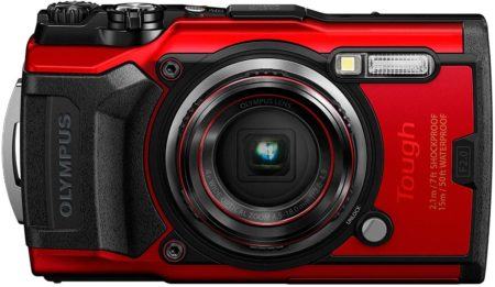 This is an Image of Olympus Tough TG-6 Waterproof Camera, in Red