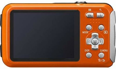 This is an image of Panasonic-DMC-TS25-Waterproof-Digital-Camera-with-2.7-Inch-LCD-Orange-DMC-TS25D