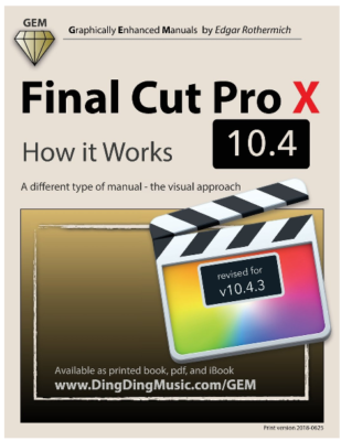 This is an image of Final Cut Pro X Version 10.4