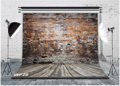 This is an image of backdrop wall with rostic wood backdrop