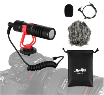 This is an image of Camera microphone mic shotgun pack in black color