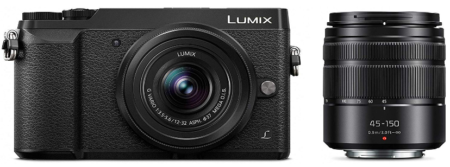 This is an image of Panasonic Lumix GX85 mirroles digital LCD black camera