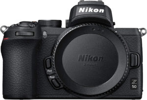 this is an image of the nikon z50 mirrorless camera