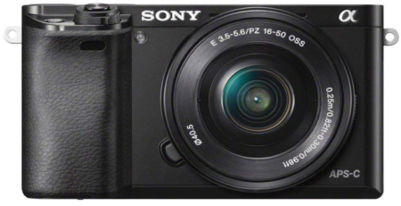 This is an image of Sony Alpha mirroles digital LCD black camera
