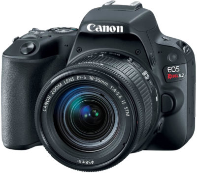 This is an image of Canon EOS Rebel SL2 DSLR Camera with EF-S 18-55mm STM Lens - WiFi Enabled