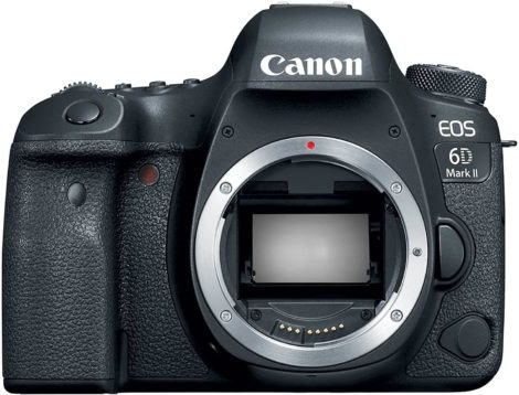 This is an image of Canon EOS 6D Mark II Digital SLR Camera Body – Wi-Fi Enabled