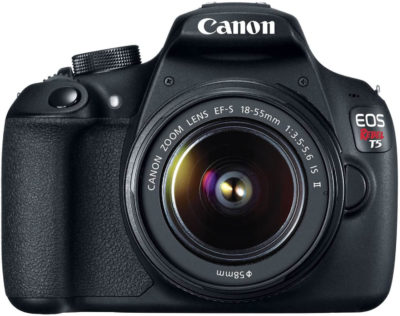 This is an image of Canon EOS Rebel T5 Digital SLR Camera Kit with EF-S 18-55mm IS II Lens
