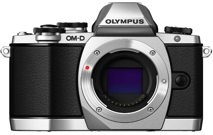 This is an image of a black Olympus OM-D E-M10 Mark III mirrorless camera with a flexible LCD