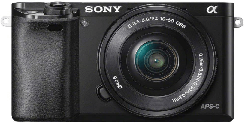 this is a black Sony Alpha a6000 Mirrorless Digital Camera with 24.3MP sensor and 3.0-Inch LCD  and 16-50mm Power Zoom Lens