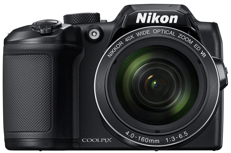 This is an image of a black Nikon COOLPIX B500 Digital Camera