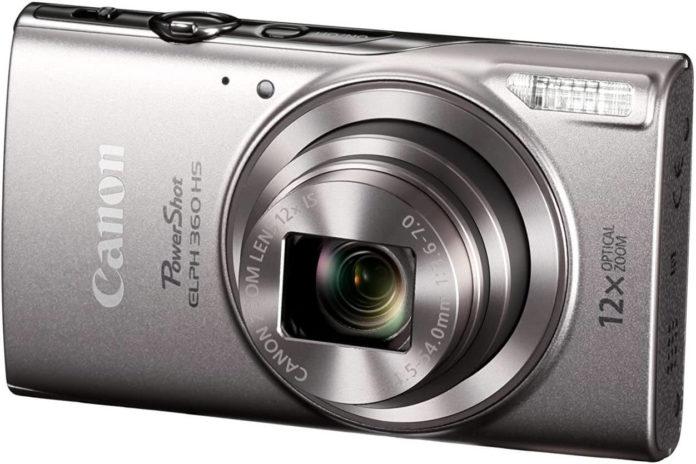 closeup of the Canon PowerShot ELPH 360 Digital Camera