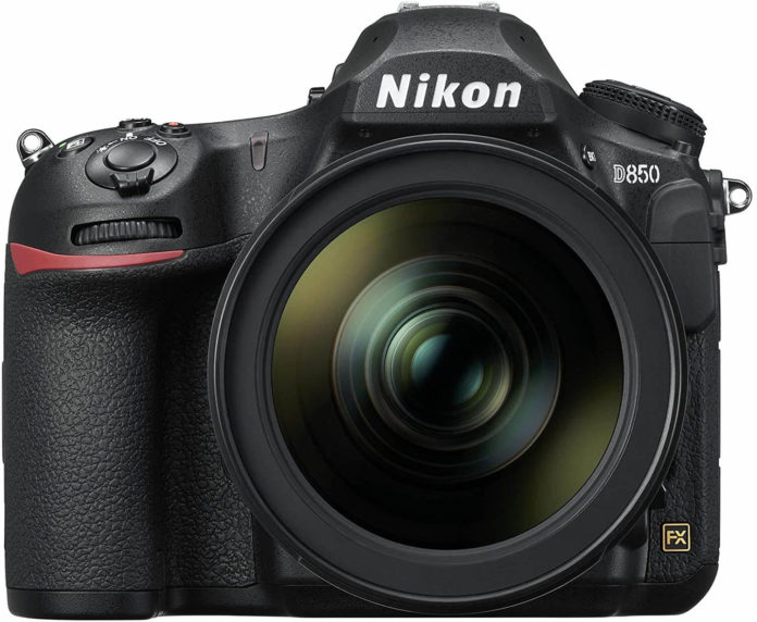 front view of the Nikon D850 digital camera