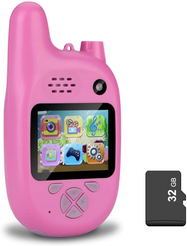 Kids Camera with Walkie Talkies, pink
