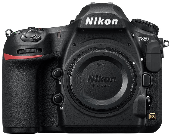 This is an image of a black Nikon D850 FX- Digital SLR Camera