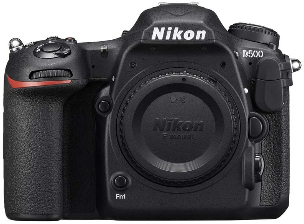 This is an image of a black Nikon D500 Digital camera