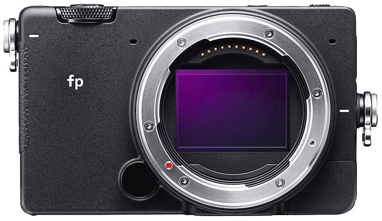 This is an image of a black Sigma fp Mirrorless Full-Frame Digital Camera