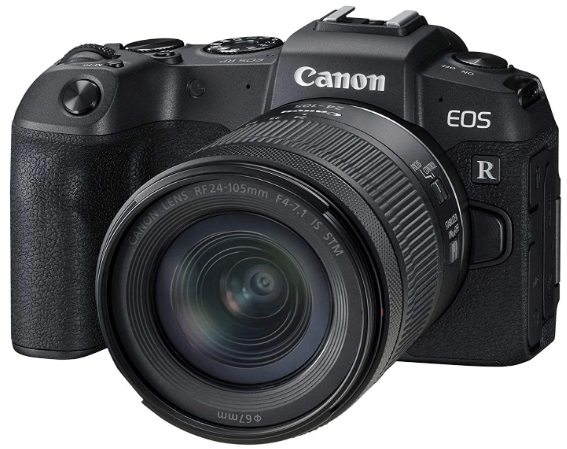 This is an image of a black Canon EOS RP Full-frame Mirrorless digital Camera