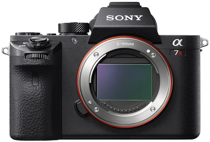 This is an image of a black Sony a7R II Full-Frame Mirrorles digital Camera, Body