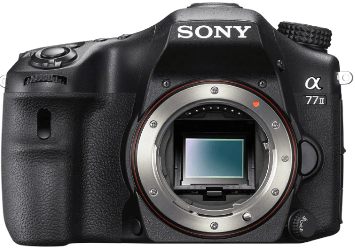 This is an image of ablack Sony A77II Digital SLR Camera