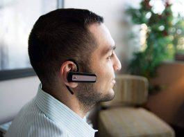 man wearing headphone with camera